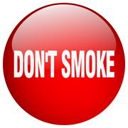 Stock Illustration of don't smoke red round gel isolated push button