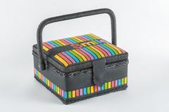 Decorative basket casket Stock Photos