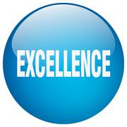 excellence blue round gel isolated push button - stock illustration