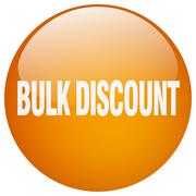 bulk discount orange round gel isolated push button - stock illustration