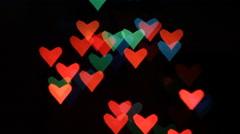 Heart bokeh background - stock footage