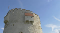 White Tower on a sunny day in Brasov Stock Footage