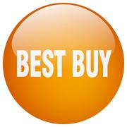 Stock Illustration of best buy orange round gel isolated push button