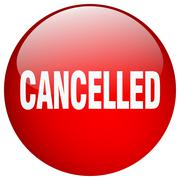 Stock Illustration of cancelled red round gel isolated push button