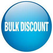 bulk discount blue round gel isolated push button - stock illustration