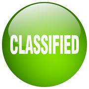classified green round gel isolated push button - stock illustration