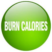 Stock Illustration of burn calories green round gel isolated push button