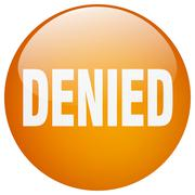 Stock Illustration of denied orange round gel isolated push button