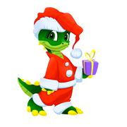 Stock Illustration of Funny Christmas cartoon character