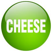 Stock Illustration of cheese green round gel isolated push button