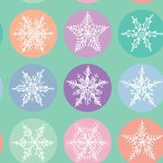 Stock Illustration of Seamless pattern Merry Christmas Card, Snowflake winter set orange pink purple