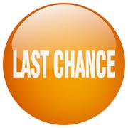 Stock Illustration of last chance orange round gel isolated push button