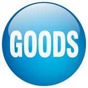 Stock Illustration of goods blue round gel isolated push button