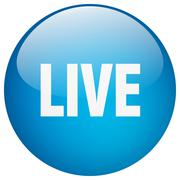Stock Illustration of live blue round gel isolated push button