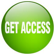 get access green round gel isolated push button - stock illustration