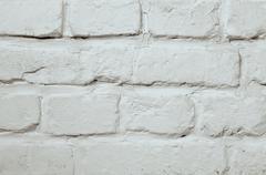 White Brick Background - stock photo