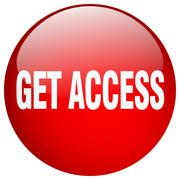 Get access red round gel isolated push button Stock Illustration