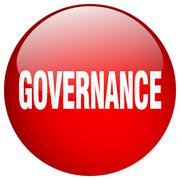 Stock Illustration of governance red round gel isolated push button