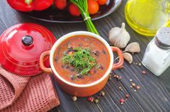Stock Photo of bean soup