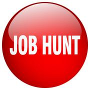 Job hunt red round gel isolated push button Stock Illustration