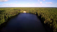 The big Viitna lake in Estonia Stock Footage