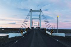 Bridge over the river from lake Jokulsarlon - stock photo