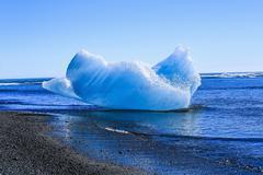 Jokulsarlon is a large glacial lake in Iceland - stock photo
