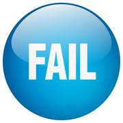 Stock Illustration of fail blue round gel isolated push button