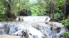 Kroeng Krawia Waterfall Stock Footage