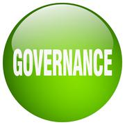 Stock Illustration of governance green round gel isolated push button