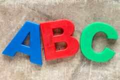 Stock Photo of The letters ABC
