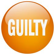 Stock Illustration of guilty orange round gel isolated push button