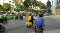 HO CHI MINH / SAIGON, VIETNAM - 2015: Slow motion Vietnamese people streets - stock footage