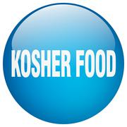 Kosher food blue round gel isolated push button Piirros