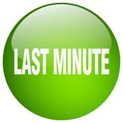 last minute green round gel isolated push button - stock illustration