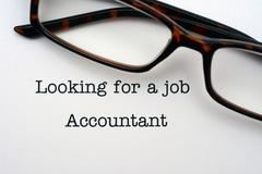 Looking for a job accountant - stock photo