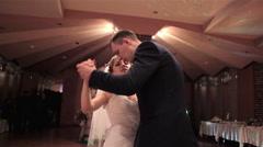 Wedding Dance newlyweds Stock Footage