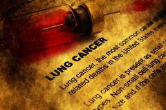 Lung cancer grunge concept Stock Photos