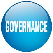 Stock Illustration of governance blue round gel isolated push button