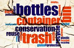 Stock Illustration of Recycle word cloud grunge concept