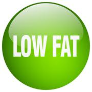 Stock Illustration of low fat green round gel isolated push button