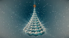Christmas tree animation. - stock footage