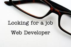 Looking for a job - web developer Stock Photos