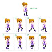 Stock Illustration of Animation of girl walking.