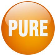 pure orange round gel isolated push button - stock illustration