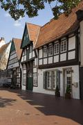 Osnabrucker town house half timbered house historic centre Osnabruck Lower Stock Photos