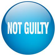 Stock Illustration of not guilty blue round gel isolated push button