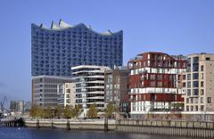 Elbe Philharmonic Hall HafenCity Hamburg Germany Europe Stock Photos