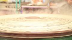 Traditional Turkish dessert made kunefe 2 Stock Footage