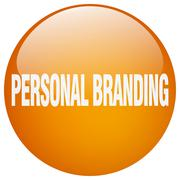 Stock Illustration of personal branding orange round gel isolated push button